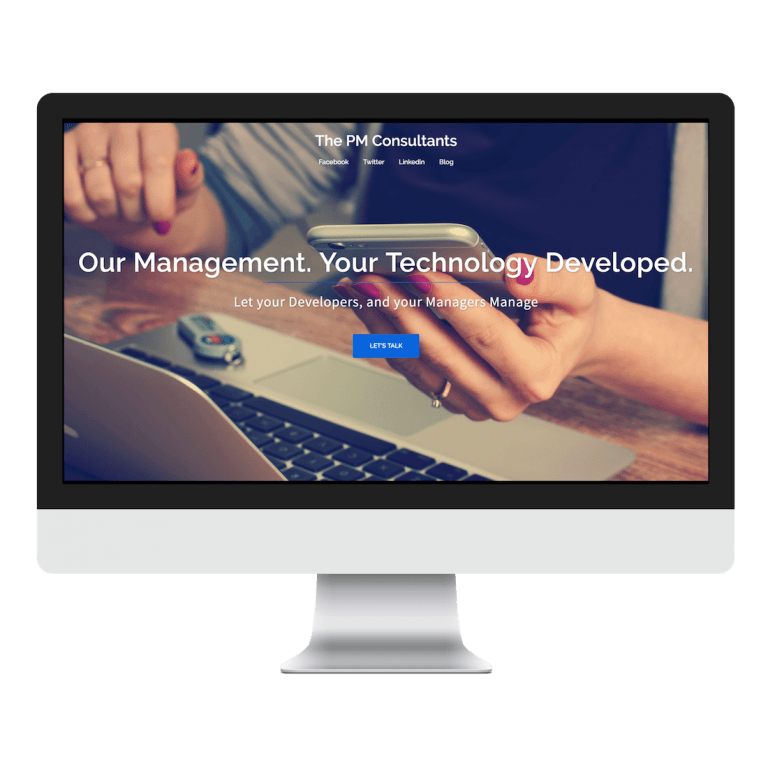 Project Management Consulting Website Design